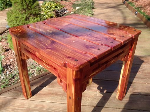 Custom Made Outdoor End Table