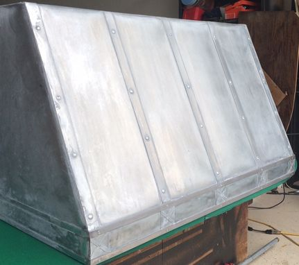 Custom Made Zinc Hood With Decorative Trim