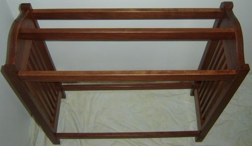 Handmade New Solid Cherry Wood Mission Style Quilt Rack