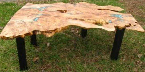 Custom Made Burl Maple Coffee Table