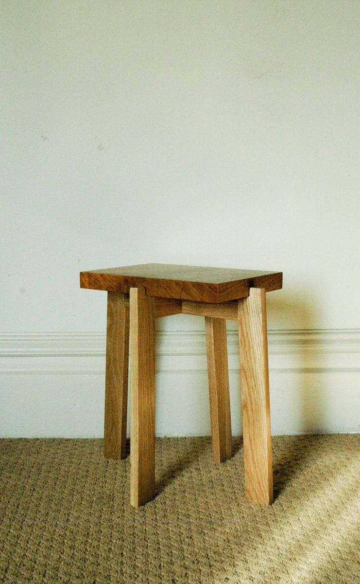 Hand Crafted Japanese Inspired Collapsible End Table By