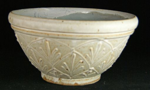 Custom Made White Serving Bowl With Elaborate Design