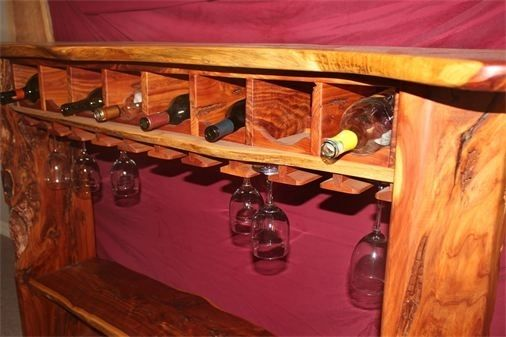 Custom Made Pecky Red Cedar Wine Bar