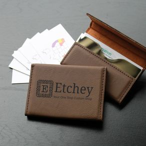 Custom business card holders personalized business card cases custom business card holder bch db custom business logo by etchey shop reheart Gallery