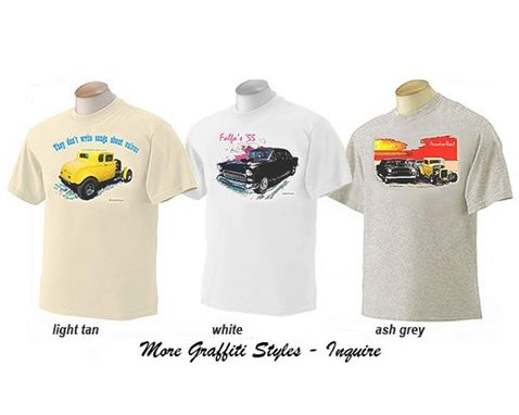 Custom Made American Graffiti Milners Coupe T-Shirt Automotive Art