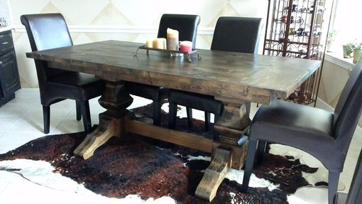 Custom Made Dark Walnut Pedestal Table