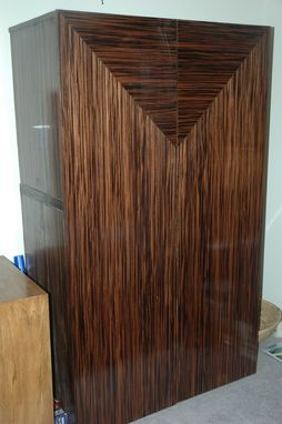 Custom Made Macassar Ebony Armoire