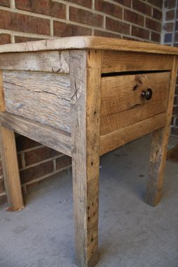 Custom Made Reclaimed Barn Wood End Table Or Night Stand