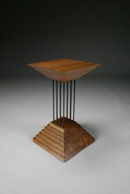 Custom Made Inconsequential Pyramids - End Table