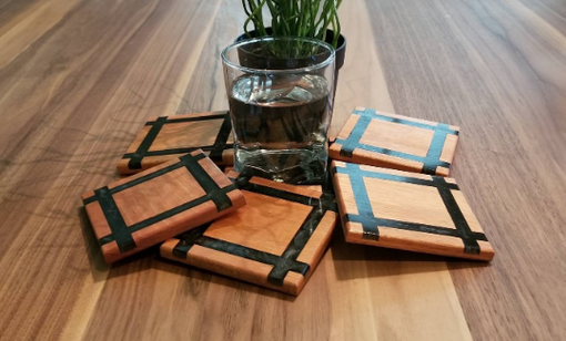 Custom Made Custom Mission Style Inspired Coasters With Mahogany And Resin