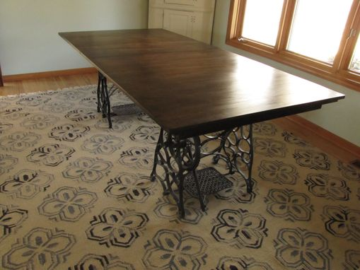 Custom Made Rustic Expanding Dining Room Table