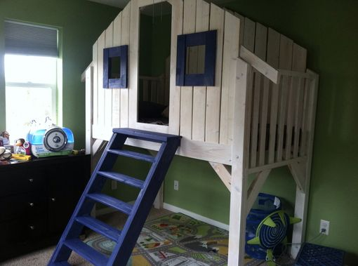 Custom Made Child's Loft Bed (Ski Patrol Theme)