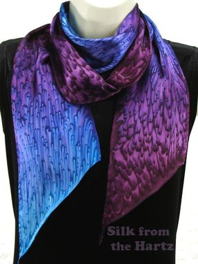 Custom Made Best Friend Gift Silk Satin Raindrop Pattern Scarf