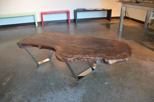 Custom Made Claro Walnut Slab Coffee Table