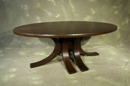 Custom Made Eliptical Wenge Dining Table