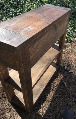 Custom Made Custom Made Mr2 Pine Farmhouse Console Table Made From Rough Hewn Sugar Pine