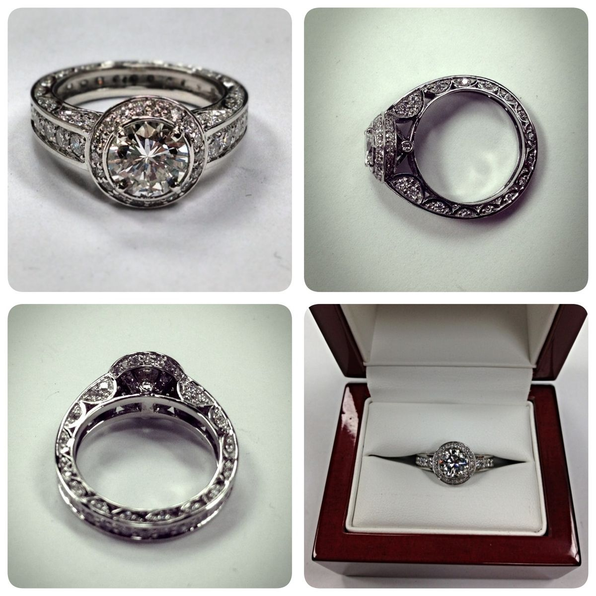 Custom Made Heirloom Engagment Ring
