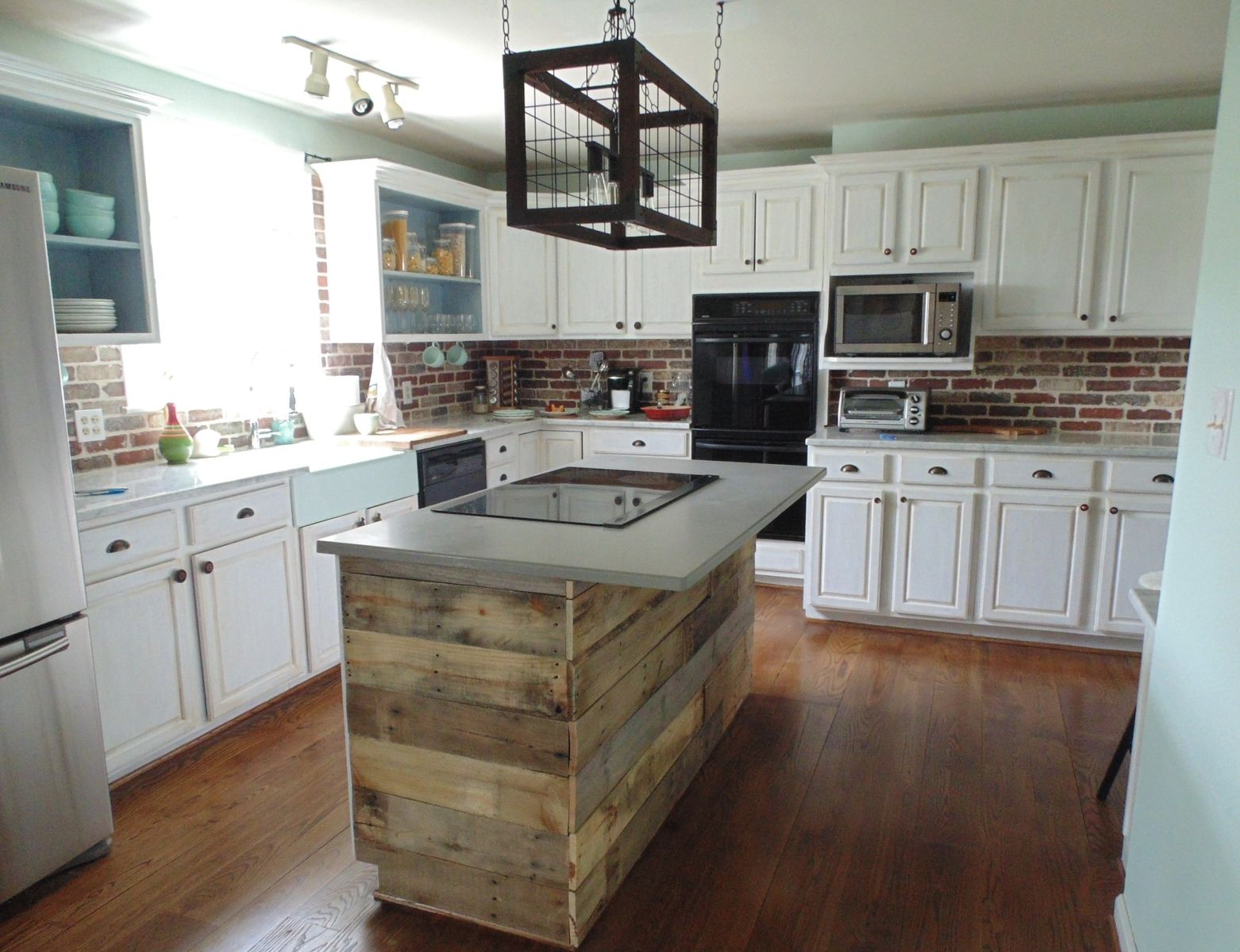 Custom made kitchen island from vintage reclaimed wood with or without - Custom Made Reclaimed Wood Interest Wall Or Island Covering