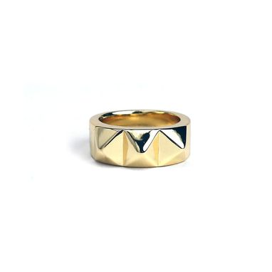 Custom Made Big Spike Ring Precious Metals