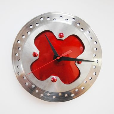 Custom Made 'Cherry Pie' Recycled Motorcycle Clock