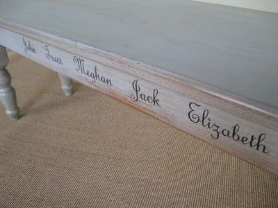 Custom Made Old Pine Bench For Dining Table