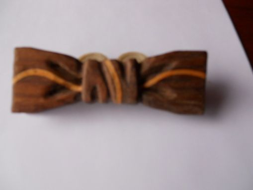Custom Made Classic Dark Bow Tie - Novelty Arc Wood (Also Comes Reverse - Light)