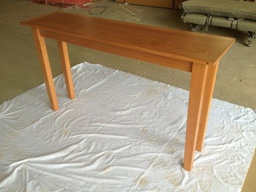 Custom Made Sofa Table In Brazillian Cherry