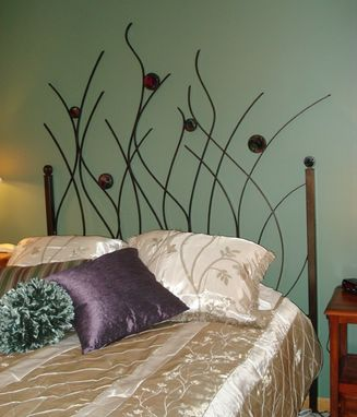 Custom Made Metal And Fused Glass Headboard