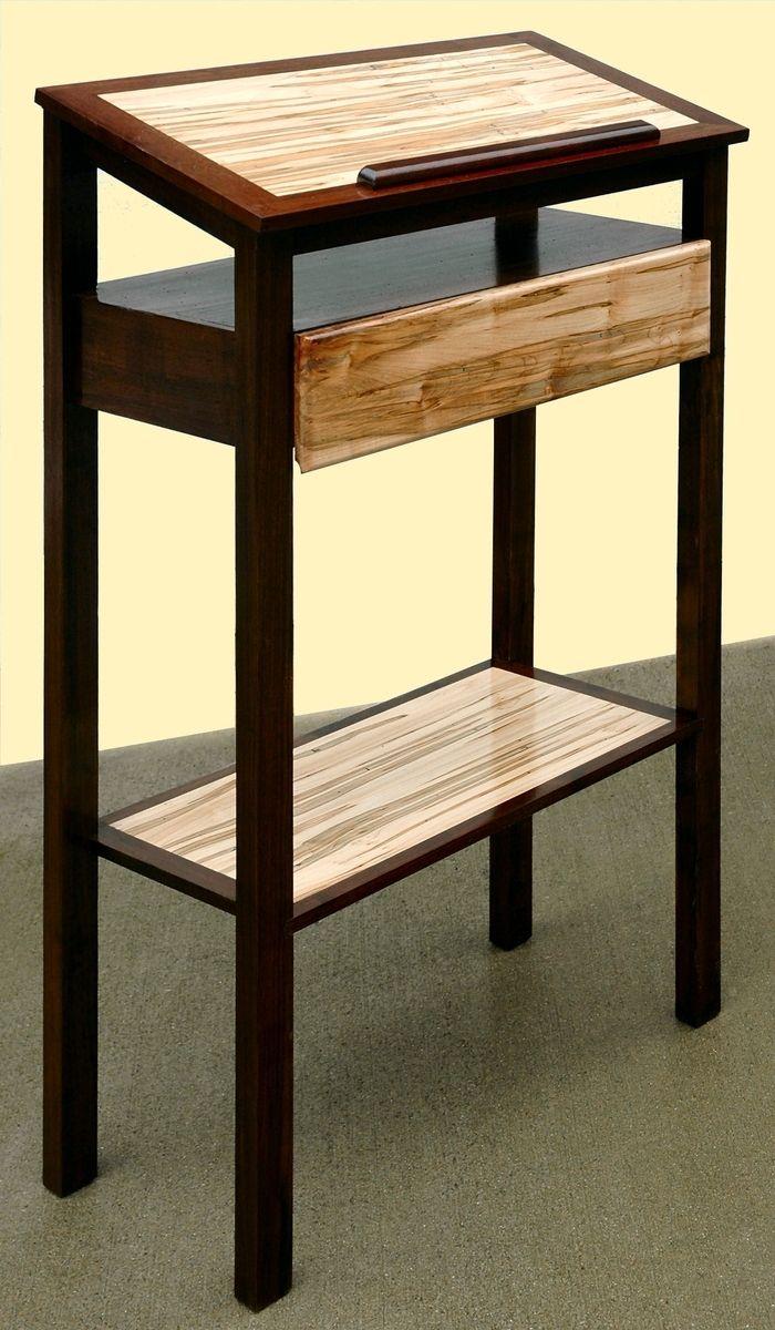 hand made podium, stand-up desk, book standmountain woodworker
