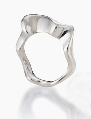 Custom Made Wave Sterling Silver Ring