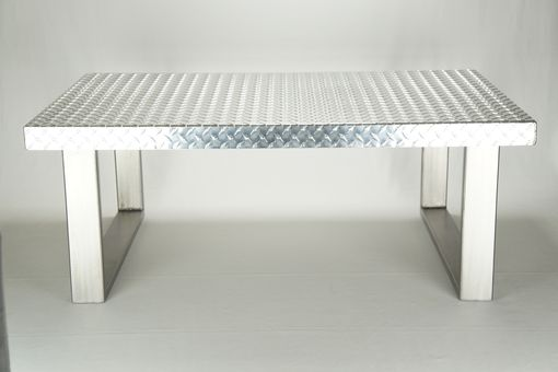 Custom Made Industrial Diamond Plate Metal Coffee Table
