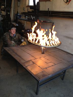 Custom Made Firepit Table