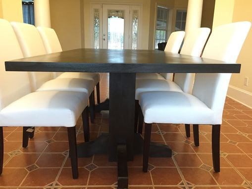Custom Made Black Walnut Dining Table- Extra Dark Espresso Stain