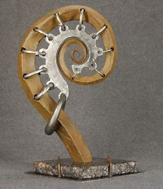 "Custom Made Small Metal Sculpture ""The Scroll"""