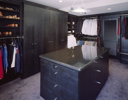 Custom Made Oak Master Closet