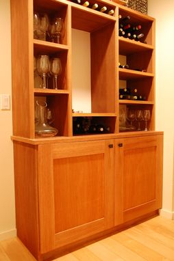Custom Made Built In Wine Cabinet