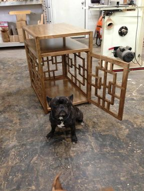 Custom Made Dog Crate Side Table