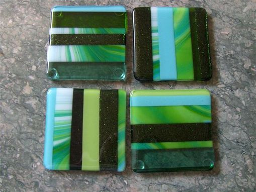Custom Made Fused Glass Coasters