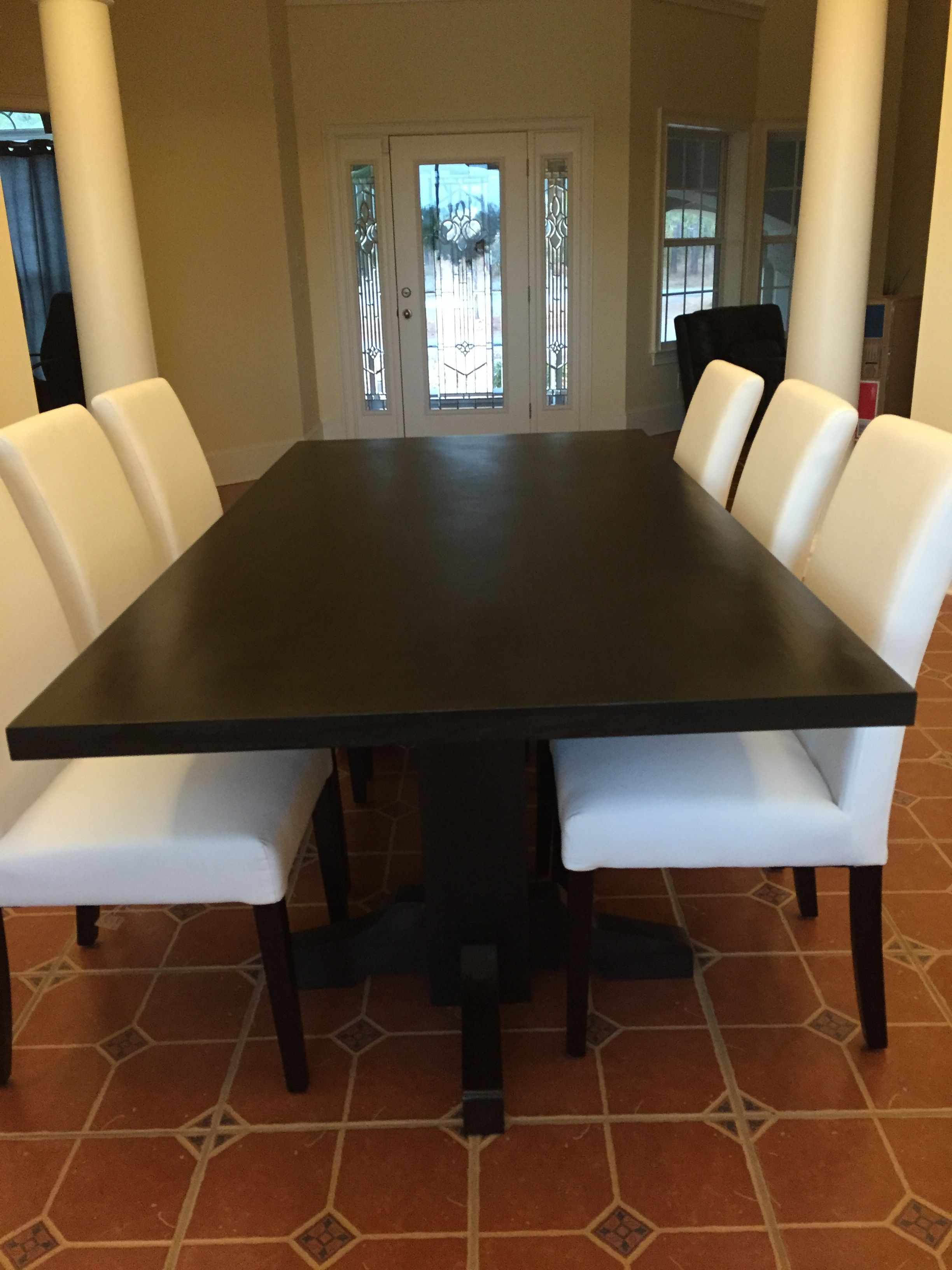 Hand Made Black Walnut Dining Table Extra Dark Espresso Stain by
