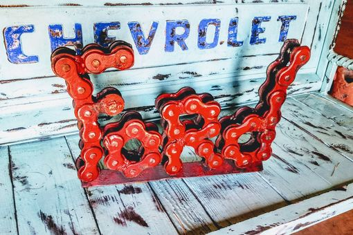 Custom Made Ford Signage Sign Metal Welded Chain Art