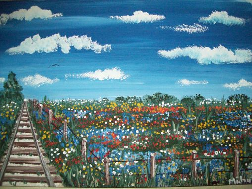 Custom Made Original Painting On Hardwood Titled: Carter Street Crossing