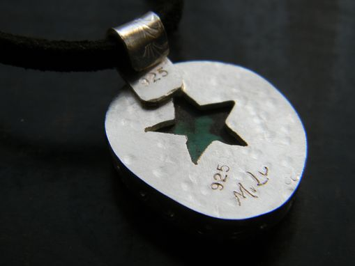 Custom Made Men's Pendant With Turquoise Stone