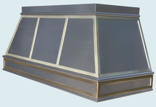 Custom Made Stainless Range Hood With Brass Straps