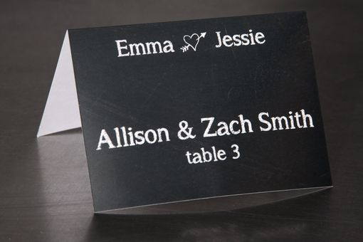 Custom Made Wedding Place Cards - Chalk Board - Escort Cards Favor Tag Custom Designed