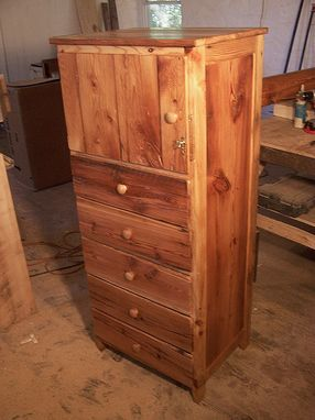 Custom Made Tallboy Lingerie Dresser With Jewelry Drawers Made Form Reclaimed Heart Pine