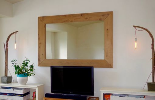 Custom Made Redwood Wall Mirror