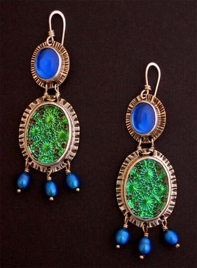 Custom Made Vintage Glass Earrings