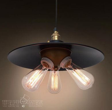Custom Made Westmenlights Black Iron Shade Pendant Hanging Light Vintage Industrial Decorative Lamp