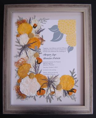 Custom Made Pressed Flower Floral Preservation