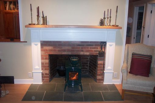 Custom Made Custom Fireplace Surround With Solid Cherry Mantel